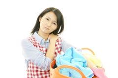 Femme au foyer fatiguée Photo libre de droits