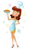Femme au foyer heureuse Images libres de droits