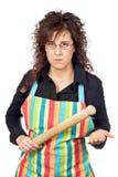 Femme au foyer irritée Photographie stock libre de droits