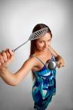 Femme au foyer violente Photographie stock libre de droits