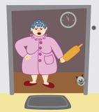 Femme au foyer visiblement contrariée illustration de vecteur