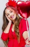 Femme au jour de valentines Images stock
