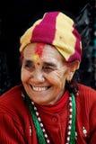 Femme au Népal Photographie stock