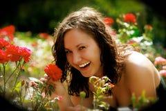 Femme au printemps Photo stock