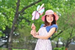 Femme au printemps Photographie stock