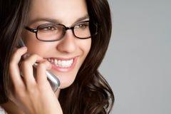 Femme au téléphone photo libre de droits