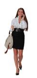 Femme au téléphone Image stock