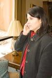 Femme au téléphone Images libres de droits