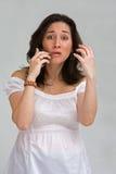 Femme au téléphone Images stock