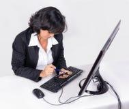 Femme au travail Photographie stock libre de droits