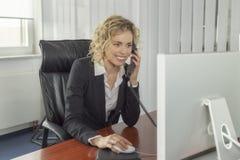 Femme au travail Photo stock