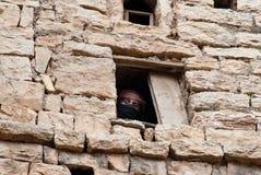 Femme au Yémen photographie stock