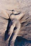 Femme avant de sable Photographie stock libre de droits
