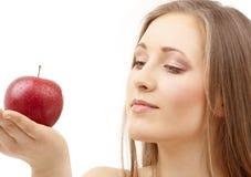 Femme avec Apple Photo libre de droits