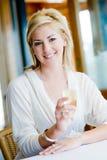 Femme avec Champagne photos libres de droits