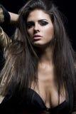 Femme avec de beaux poils Images libres de droits