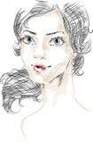Femme avec de beaux yeux Images stock