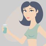 Femme avec de l'eau illustration stock