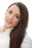 Femme avec de longs poils Photographie stock