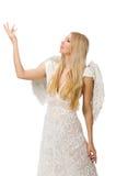 Femme avec des ailes d'ange Photo libre de droits