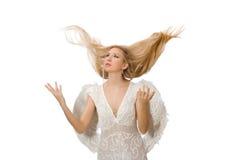 Femme avec des ailes d'ange Photos libres de droits