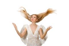 Femme avec des ailes d'ange Image stock