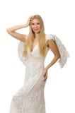 Femme avec des ailes d'ange Photographie stock libre de droits