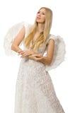 Femme avec des ailes d'ange Image libre de droits