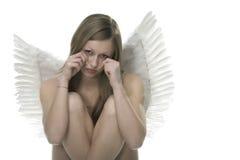 Femme avec des ailes d'ange Photos stock