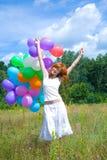 Femme avec des ballons Photo libre de droits