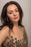 Femme avec des bijoux Photo stock