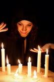 Femme avec des bougies Image libre de droits