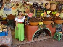 Femme avec des échantillons de taupe Image libre de droits