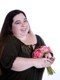 Femme avec des fleurs image libre de droits
