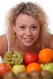 Femme avec des fruits Photos libres de droits