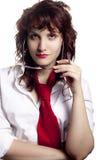 Femme avec des glaces images libres de droits