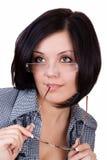 Femme avec des glaces image libre de droits