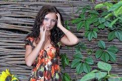 Femme avec des œil bleu Images libres de droits