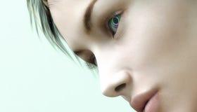 Femme avec des iris d'arc-en-ciel illustration libre de droits