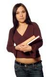 Femme avec des livres image libre de droits