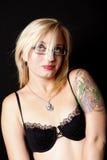 Femme avec des lunettes Image libre de droits
