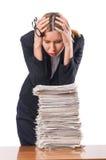 Femme avec des papiers Photos libres de droits