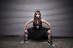 Femme avec des pattes dédoublées Images libres de droits