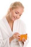Femme avec des pilules Photographie stock libre de droits