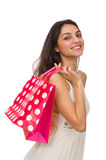 Femme avec des sacs à provisions Photos libres de droits