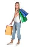 Femme avec des sacs à provisions Image libre de droits