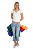 Femme avec des sacs à provisions Photos stock