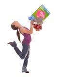 Femme avec des sacs à provisions Photo libre de droits