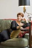 Femme avec des sucreries Photos stock