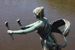Femme avec des torches Photographie stock libre de droits